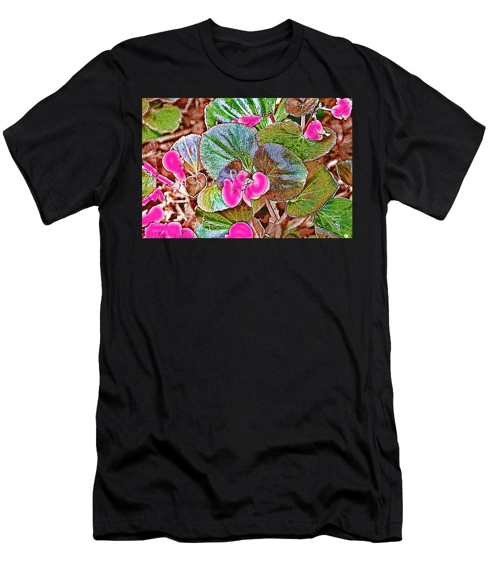 Flower Men's T-Shirt (Athletic Fit) featuring the photograph Begonia by Ericamaxine Price