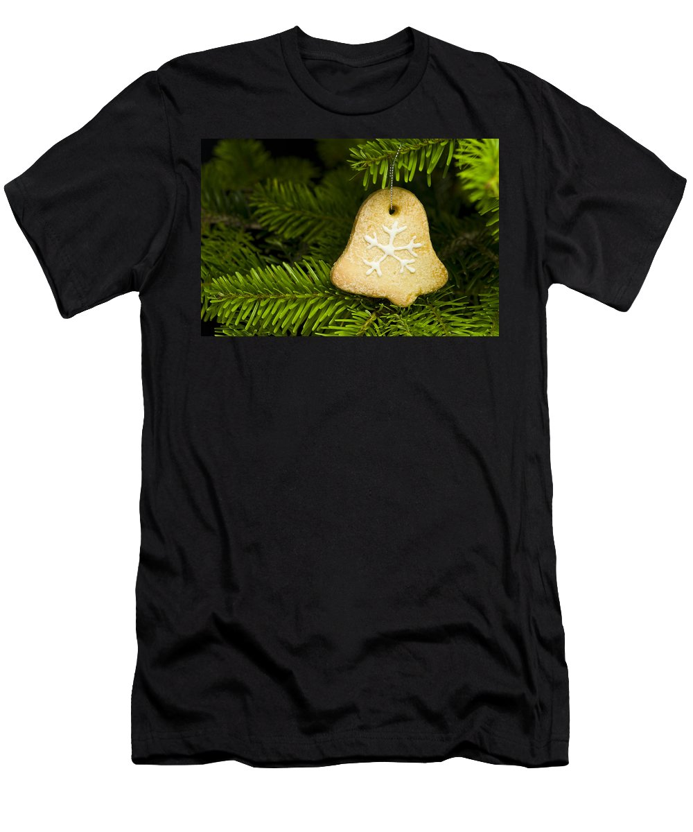 Advent Men's T-Shirt (Athletic Fit) featuring the photograph Bell Shape Short Bread Cookie by U Schade