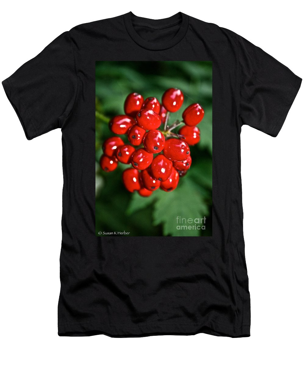 Outdoors Men's T-Shirt (Athletic Fit) featuring the photograph Berry Brilliant by Susan Herber