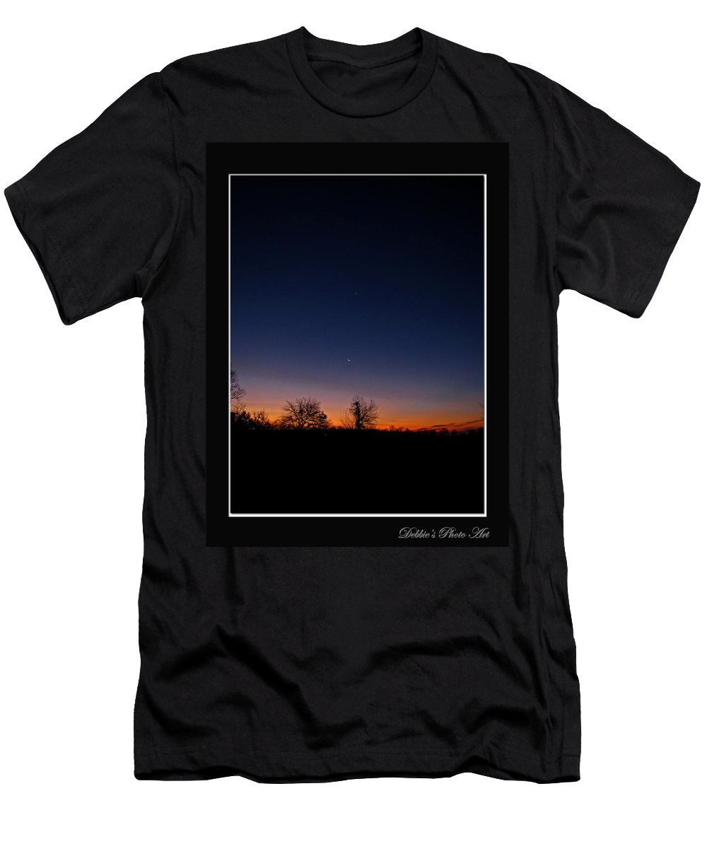 Landscape Men's T-Shirt (Athletic Fit) featuring the photograph Between Night And Day by Debbie Portwood
