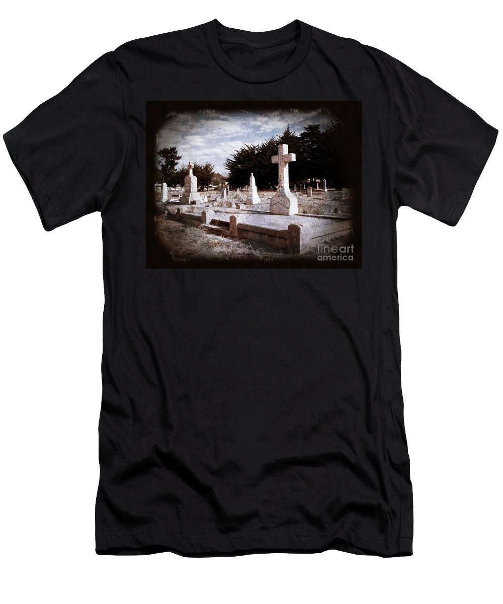 Death Men's T-Shirt (Athletic Fit) featuring the photograph Beyond All Strife by Laura Iverson