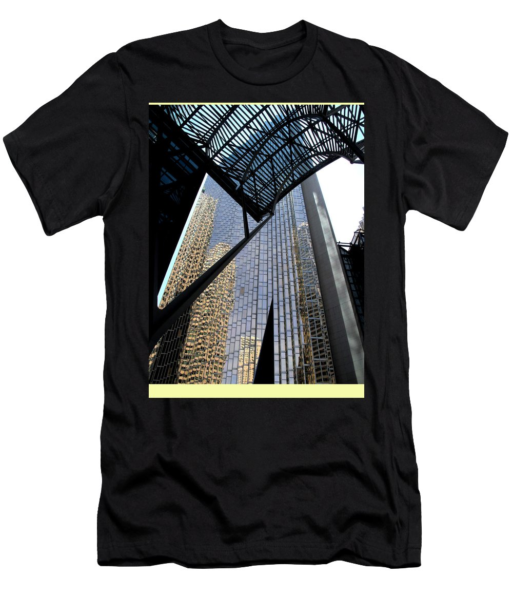 Toronto Men's T-Shirt (Athletic Fit) featuring the photograph Big City Reflections by Ian MacDonald