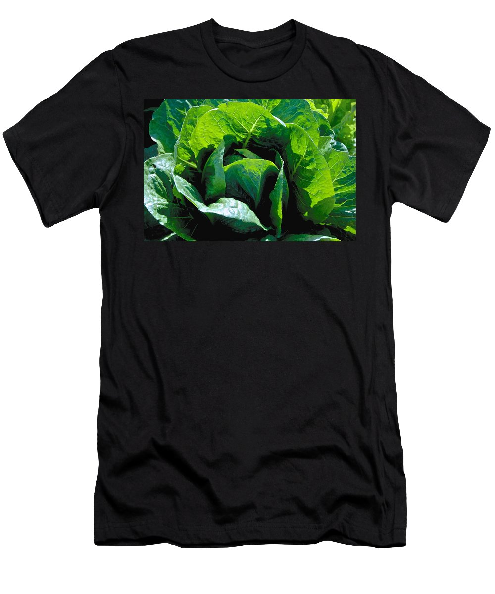 Green Men's T-Shirt (Athletic Fit) featuring the photograph Big Green Cabbage by Eric Tressler