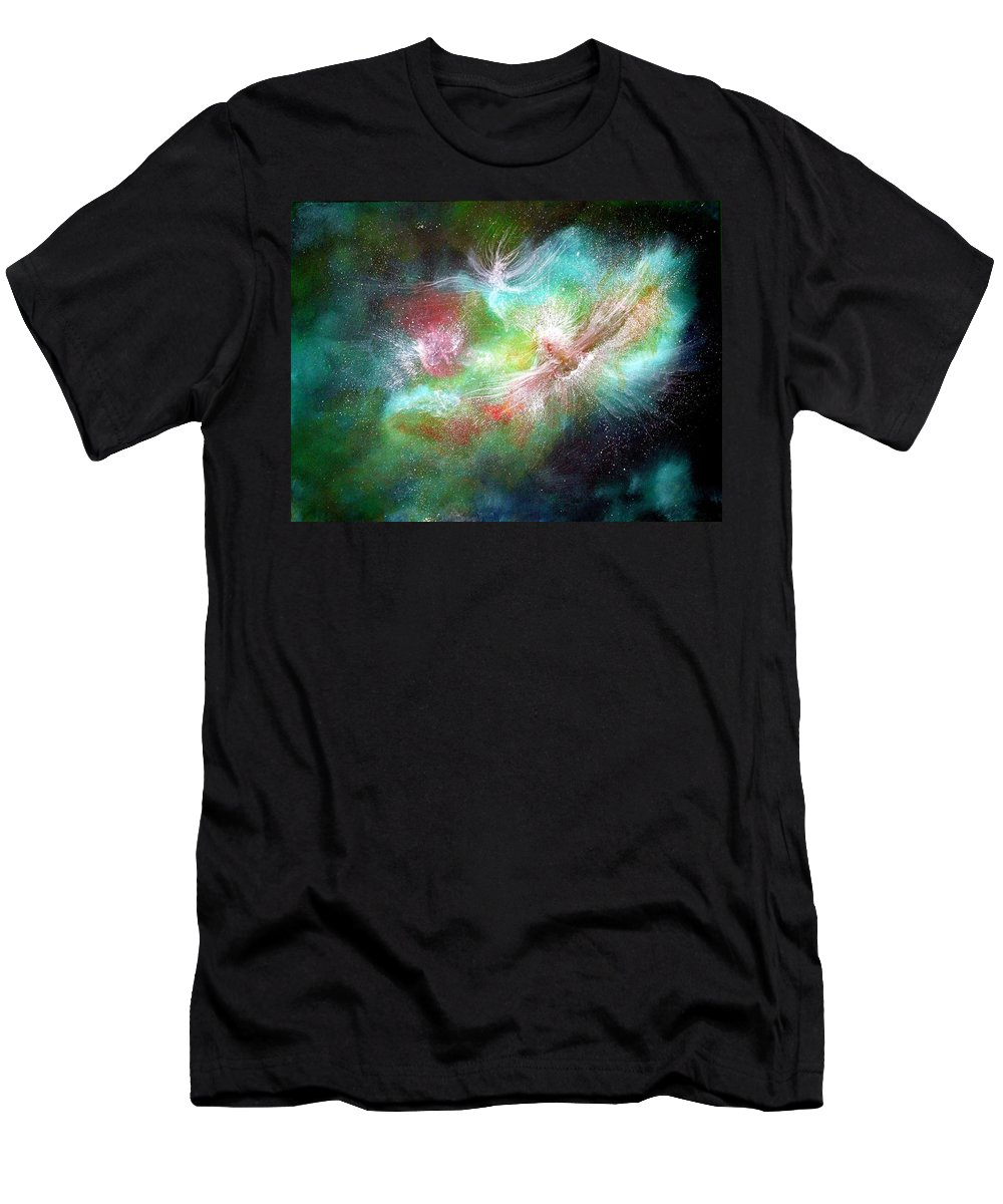 Angels Men's T-Shirt (Athletic Fit) featuring the painting Birth Of Angels by Naomi Walker