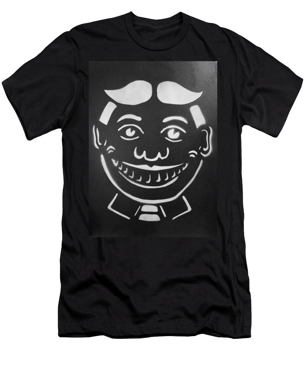 Tillie Of Asbury Park T-Shirt featuring the painting Black and White Tillie by Patricia Arroyo