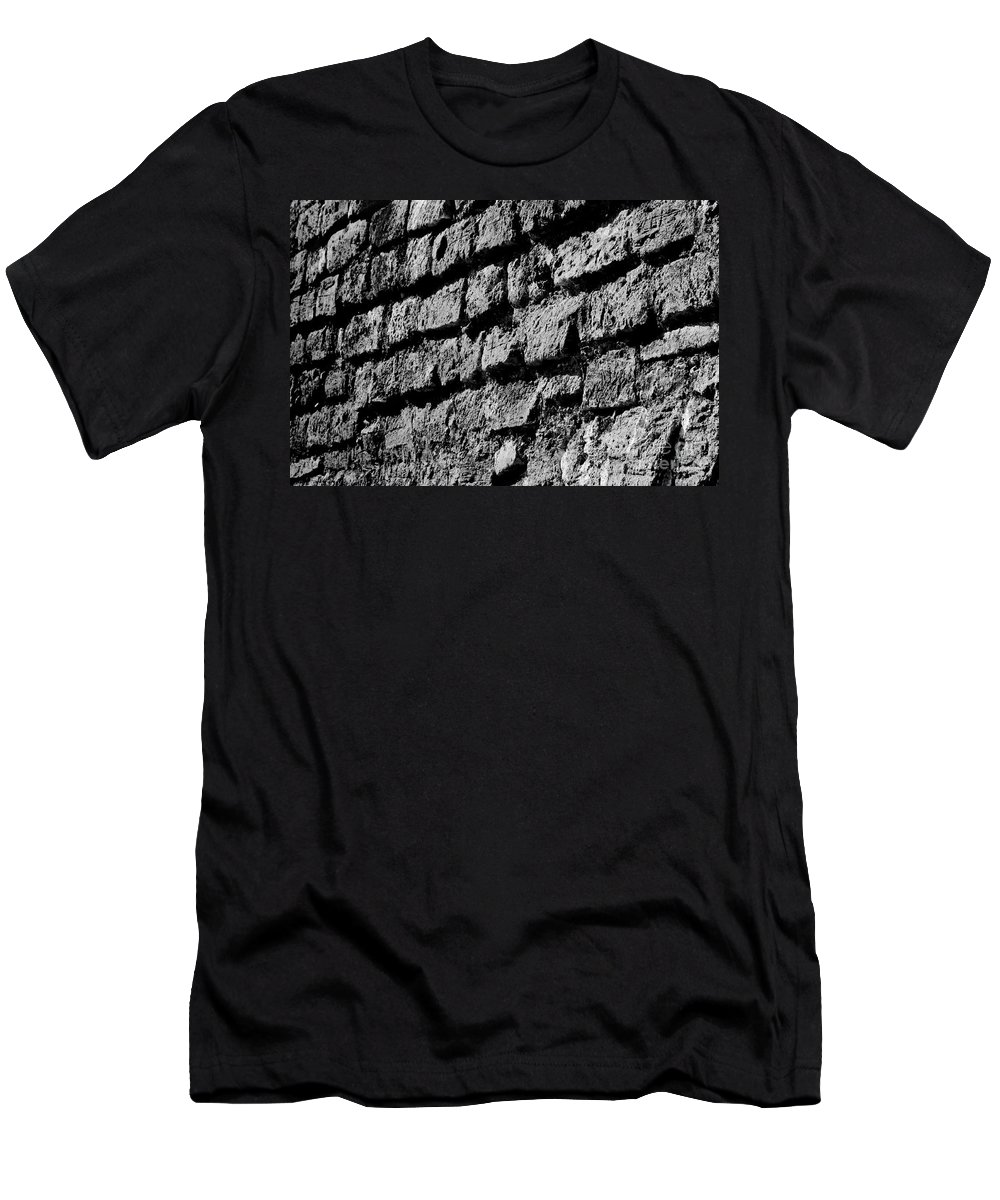 Blanco Y Negro Men's T-Shirt (Athletic Fit) featuring the photograph Black Wall by Agusti Pardo Rossello