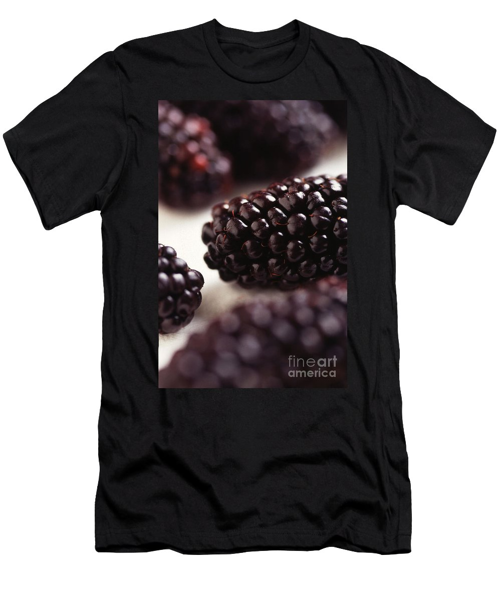 Blackberry Men's T-Shirt (Athletic Fit) featuring the photograph Blackberry by Photo Researchers