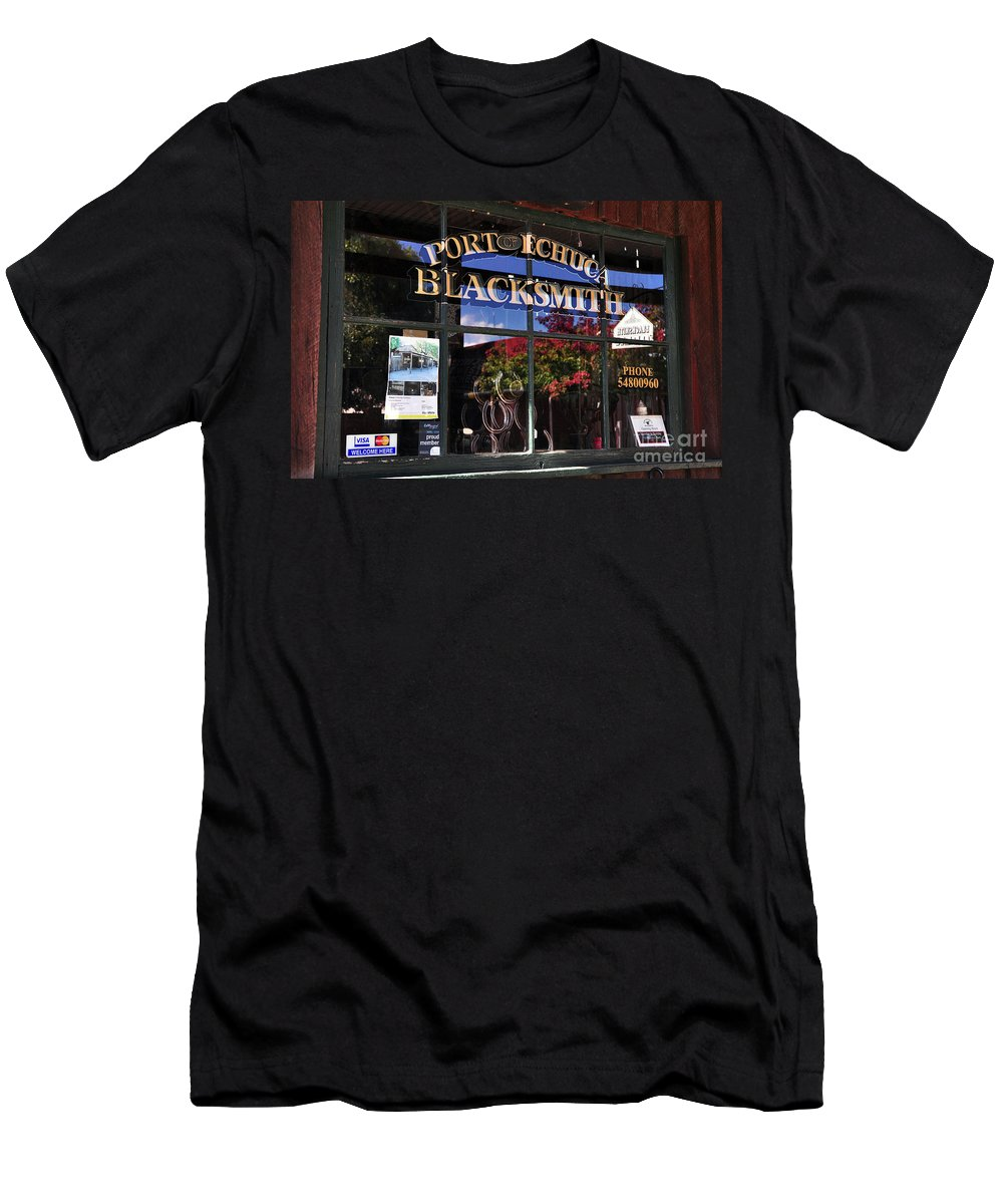 Photography Men's T-Shirt (Athletic Fit) featuring the photograph Blacksmith Shop by Kaye Menner