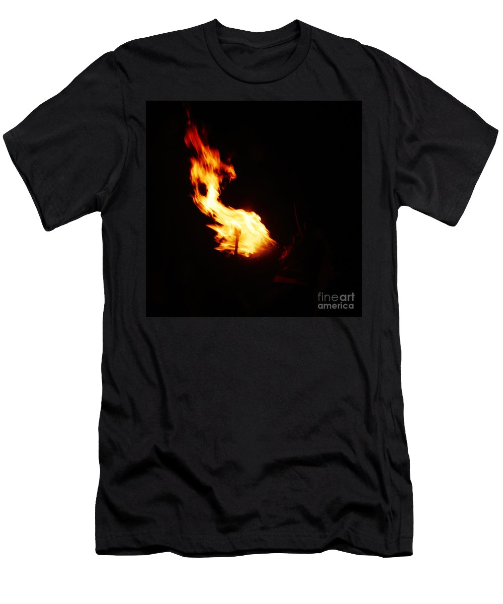 Fuego Men's T-Shirt (Athletic Fit) featuring the photograph Blaze by Agusti Pardo Rossello