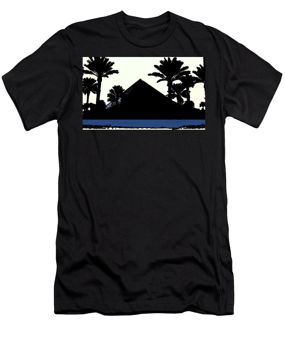 Silhouette Men's T-Shirt (Athletic Fit) featuring the photograph Blk And Wt Pyramid3 by Amber Stubbs