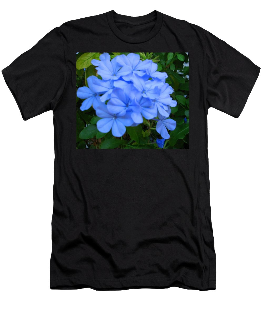 Flower Men's T-Shirt (Athletic Fit) featuring the photograph Blue Flowers by April Patterson