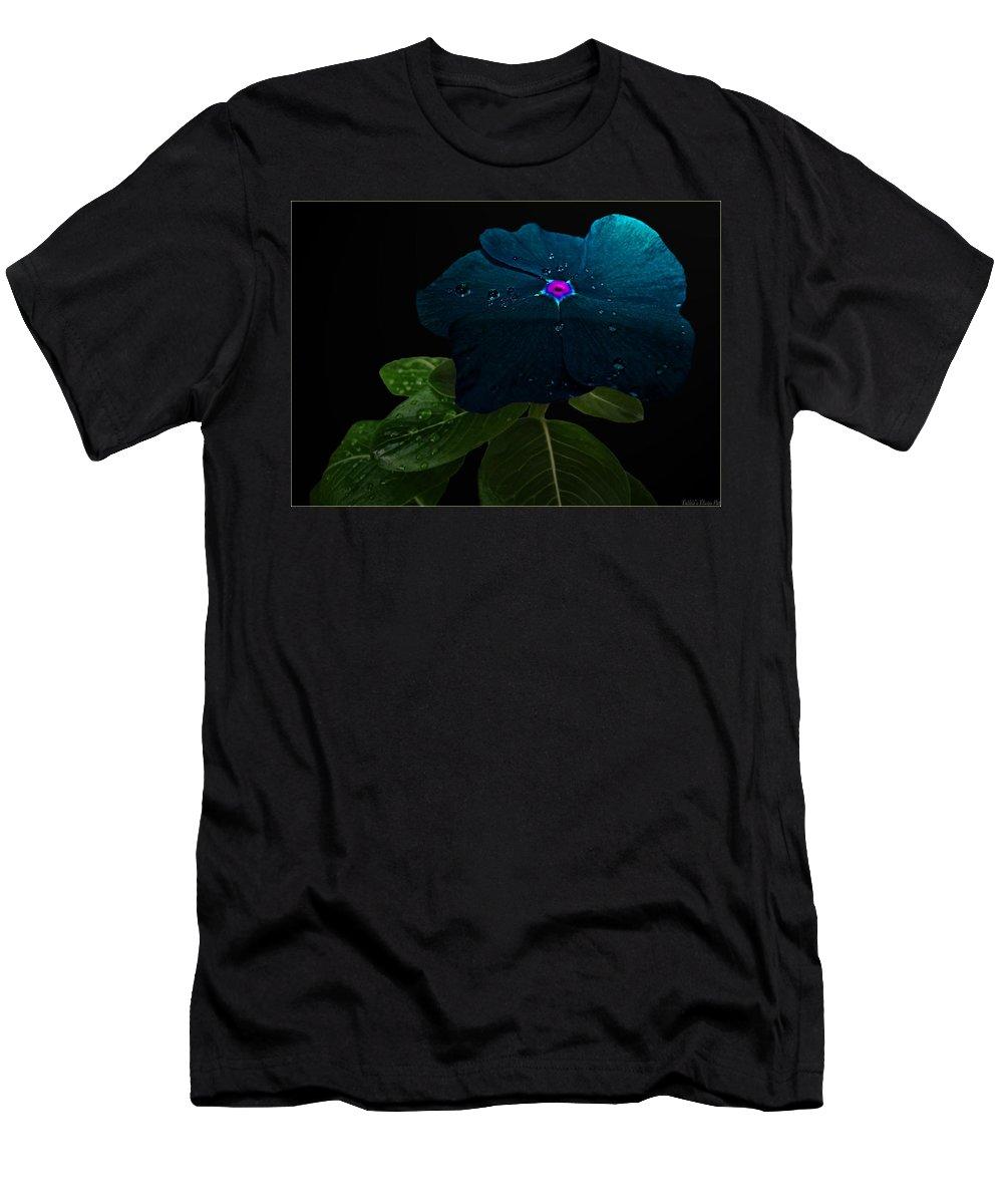 Nature Men's T-Shirt (Athletic Fit) featuring the digital art Blue Jean Impatient by Debbie Portwood