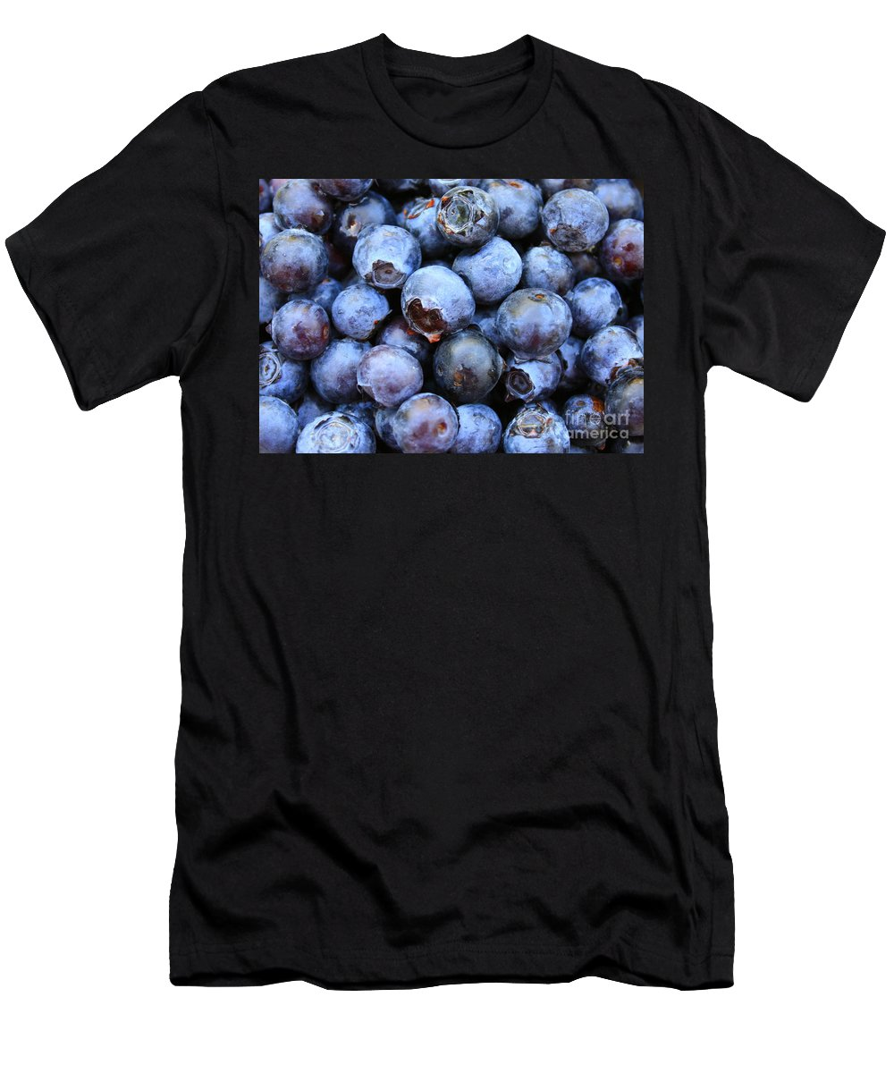 Food Men's T-Shirt (Athletic Fit) featuring the photograph Blueberries by Carol Groenen