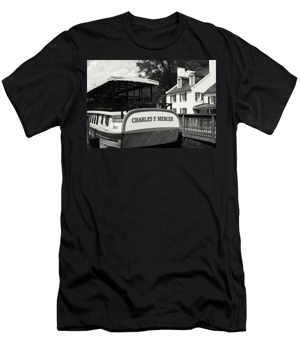 River Men's T-Shirt (Athletic Fit) featuring the photograph Boat House Blues by Phil Cappiali Jr