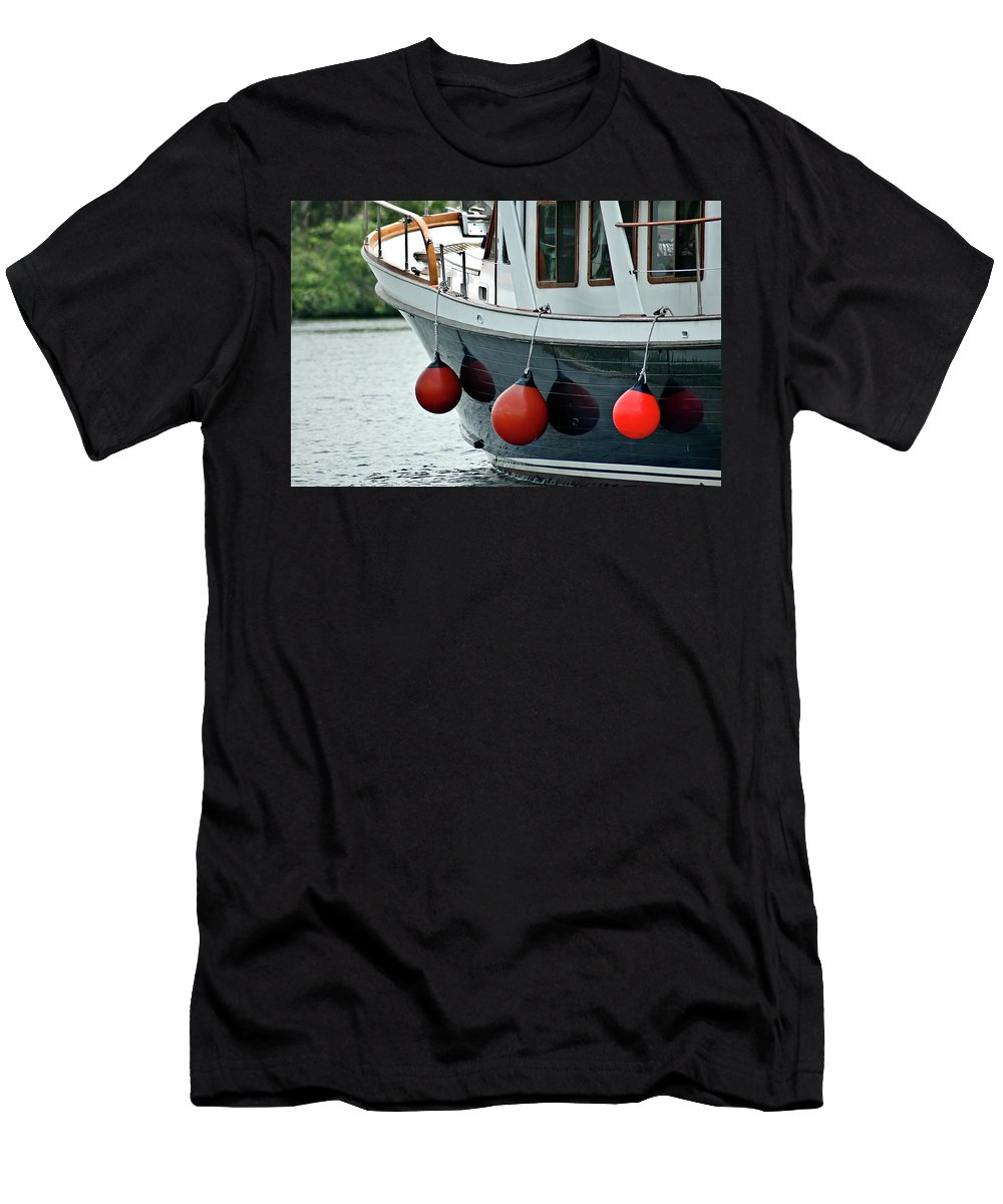 Boat Men's T-Shirt (Athletic Fit) featuring the photograph Boat Time by Carolyn Marshall
