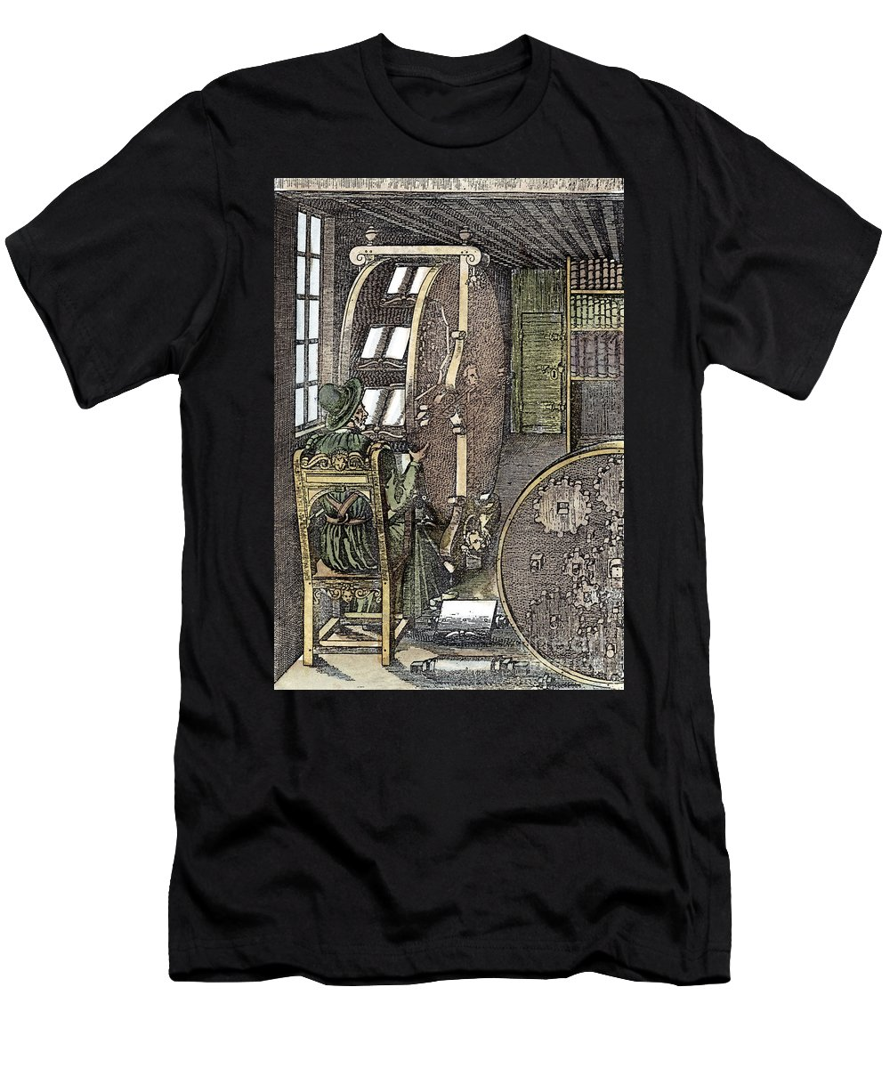 1588 Men's T-Shirt (Athletic Fit) featuring the photograph Bookwheel, 1588 by Granger