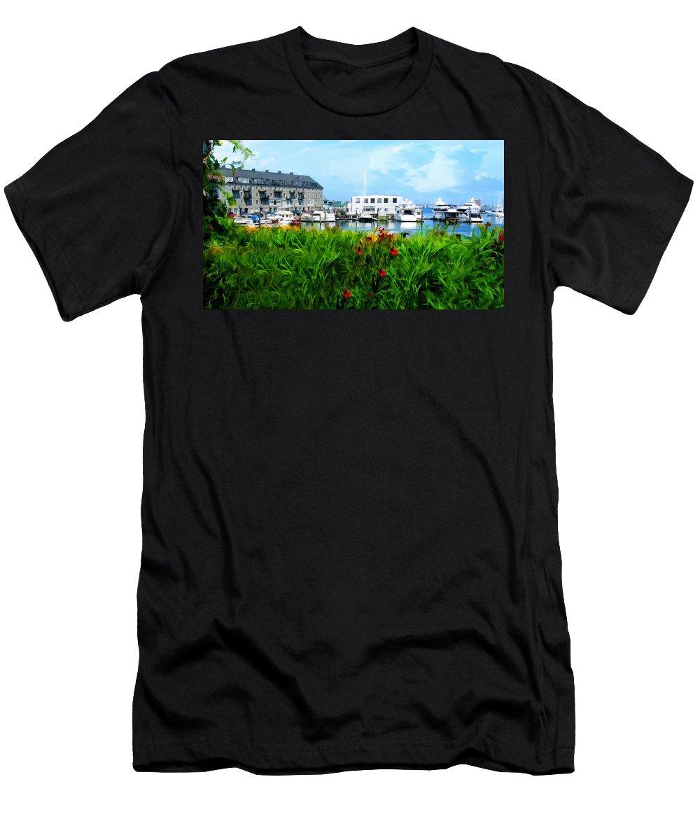 Boston Men's T-Shirt (Athletic Fit) featuring the photograph Boston Scene- Boston City Art by Lourry Legarde