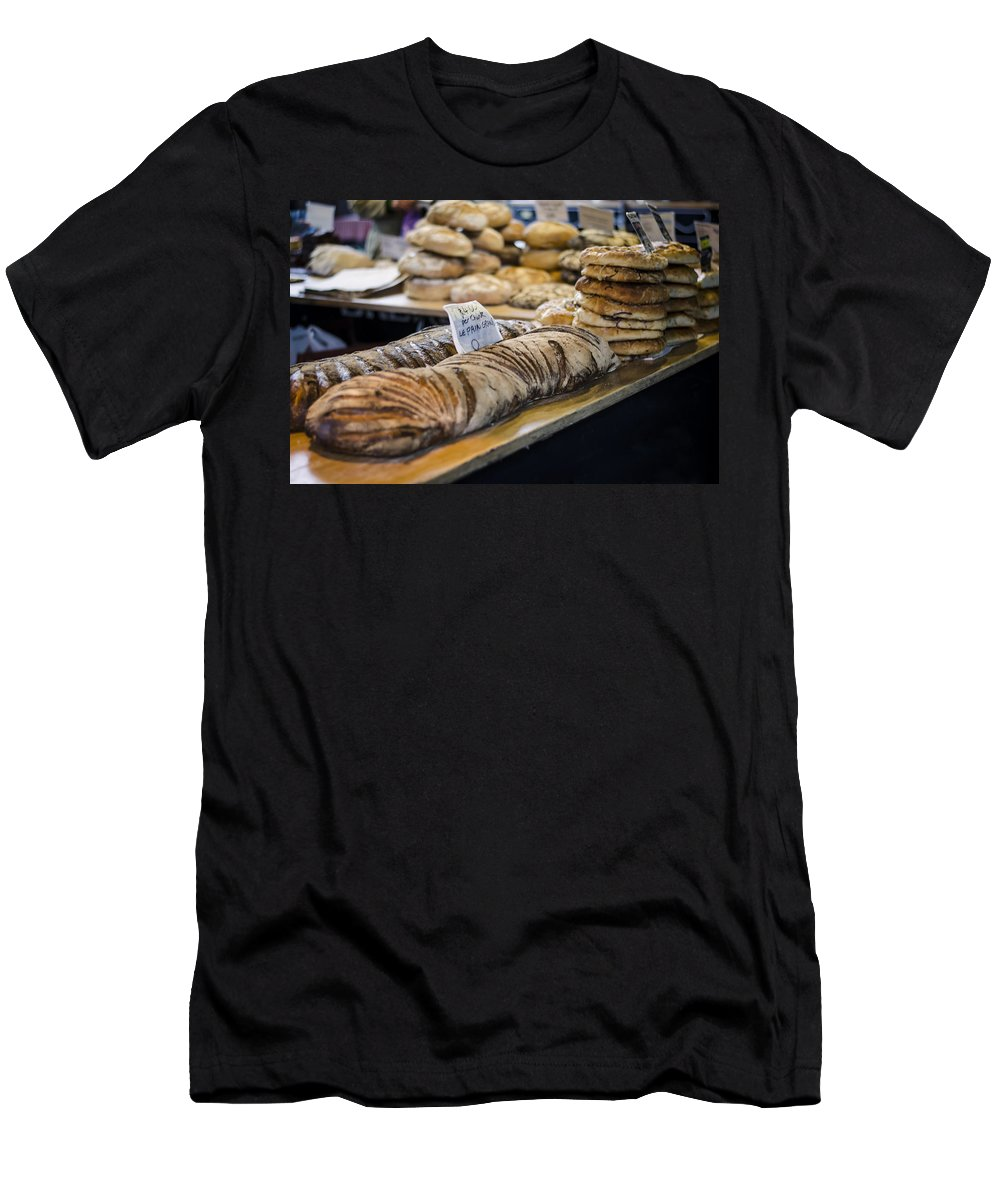 Bread Men's T-Shirt (Athletic Fit) featuring the photograph Bread Market by Heather Applegate