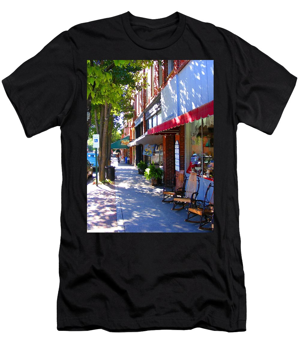Brevard Men's T-Shirt (Athletic Fit) featuring the photograph Brevard Downtown Filtered by Duane McCullough