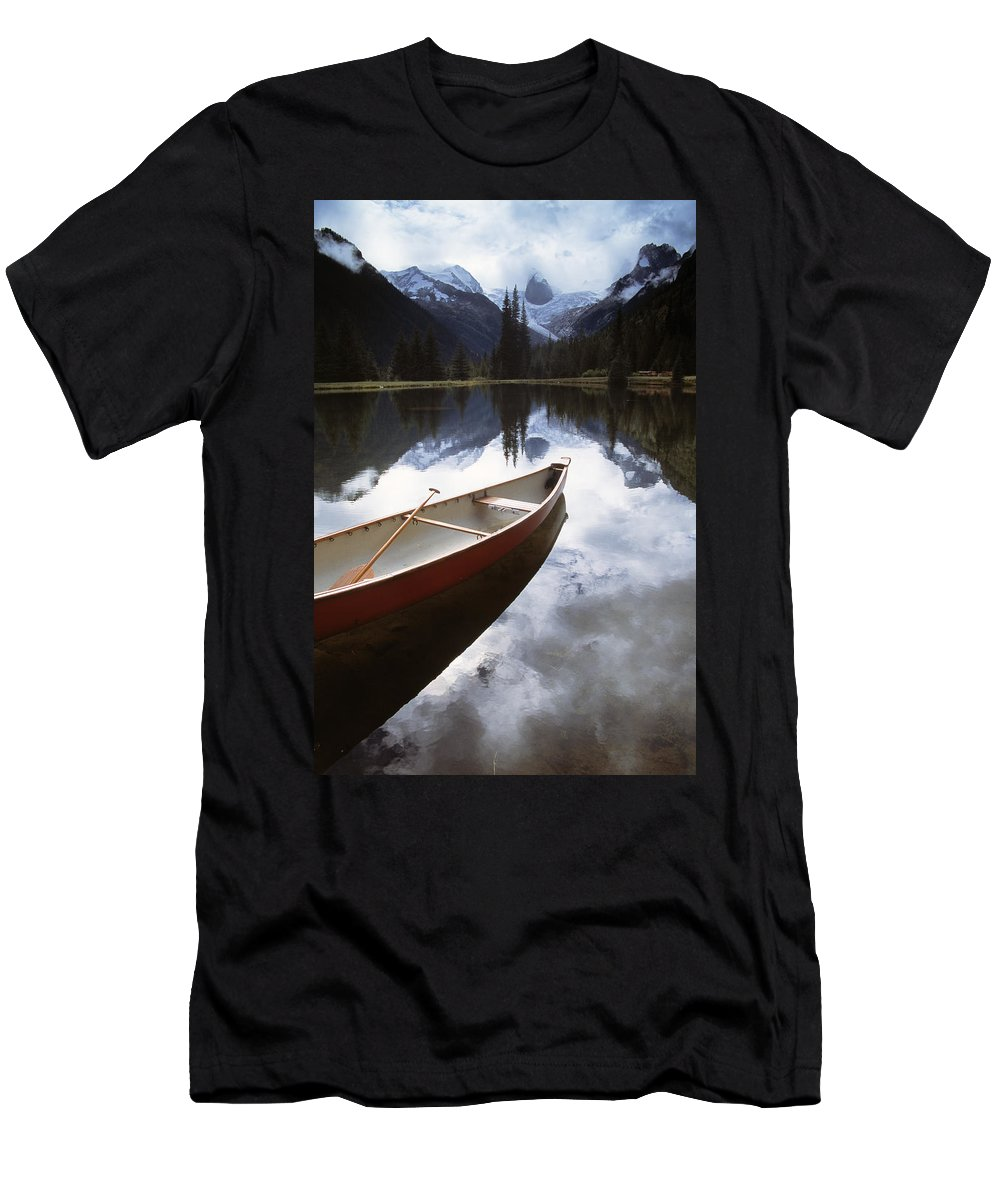 British Columbia Men's T-Shirt (Athletic Fit) featuring the photograph Bugaboos Provincial Park by Natural Selection Chris Pinchbeck