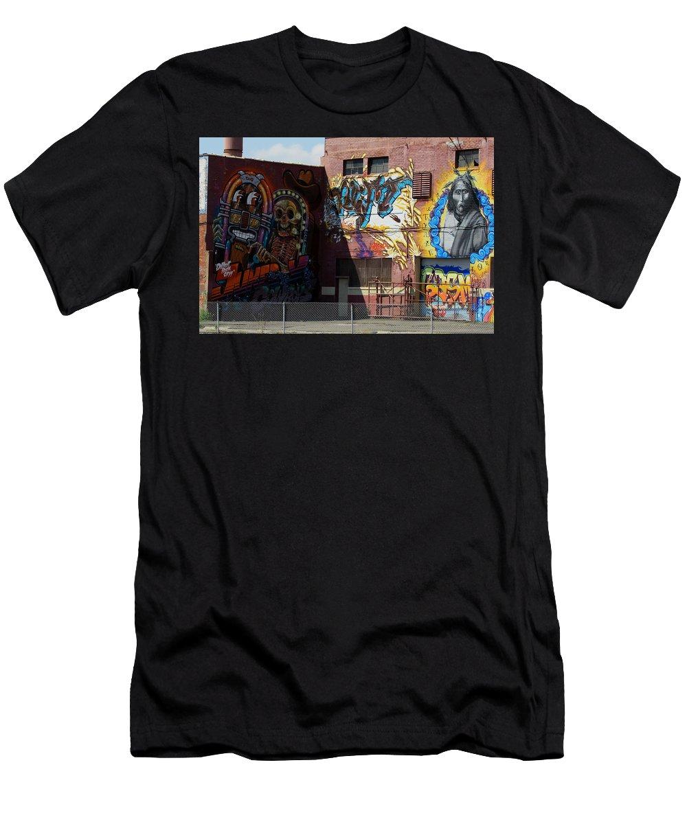 Landscape Men's T-Shirt (Athletic Fit) featuring the photograph Building Of Art by Dennis Pintoski