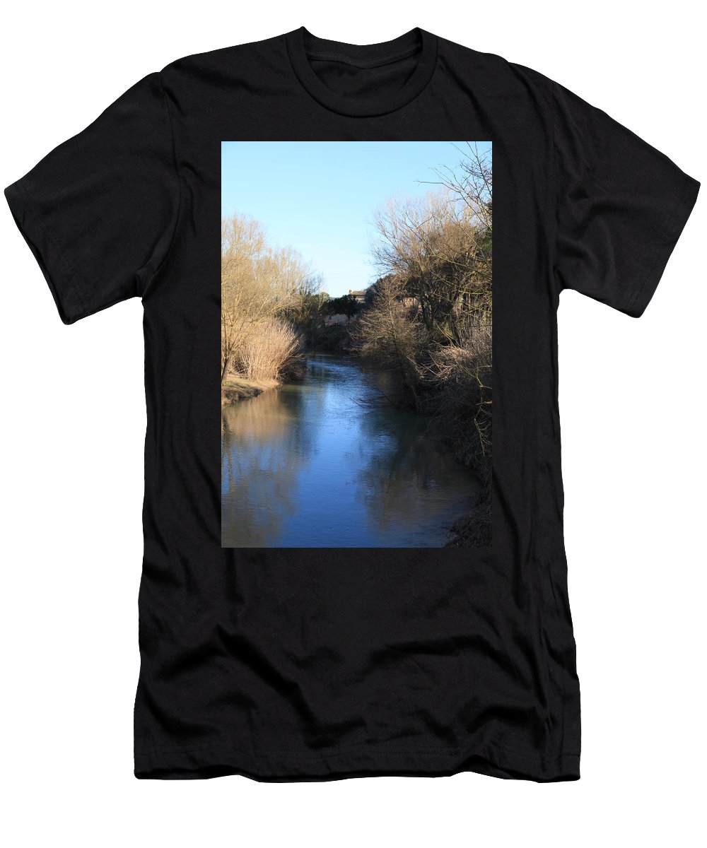 River Men's T-Shirt (Athletic Fit) featuring the photograph By The River by Francesco Scali