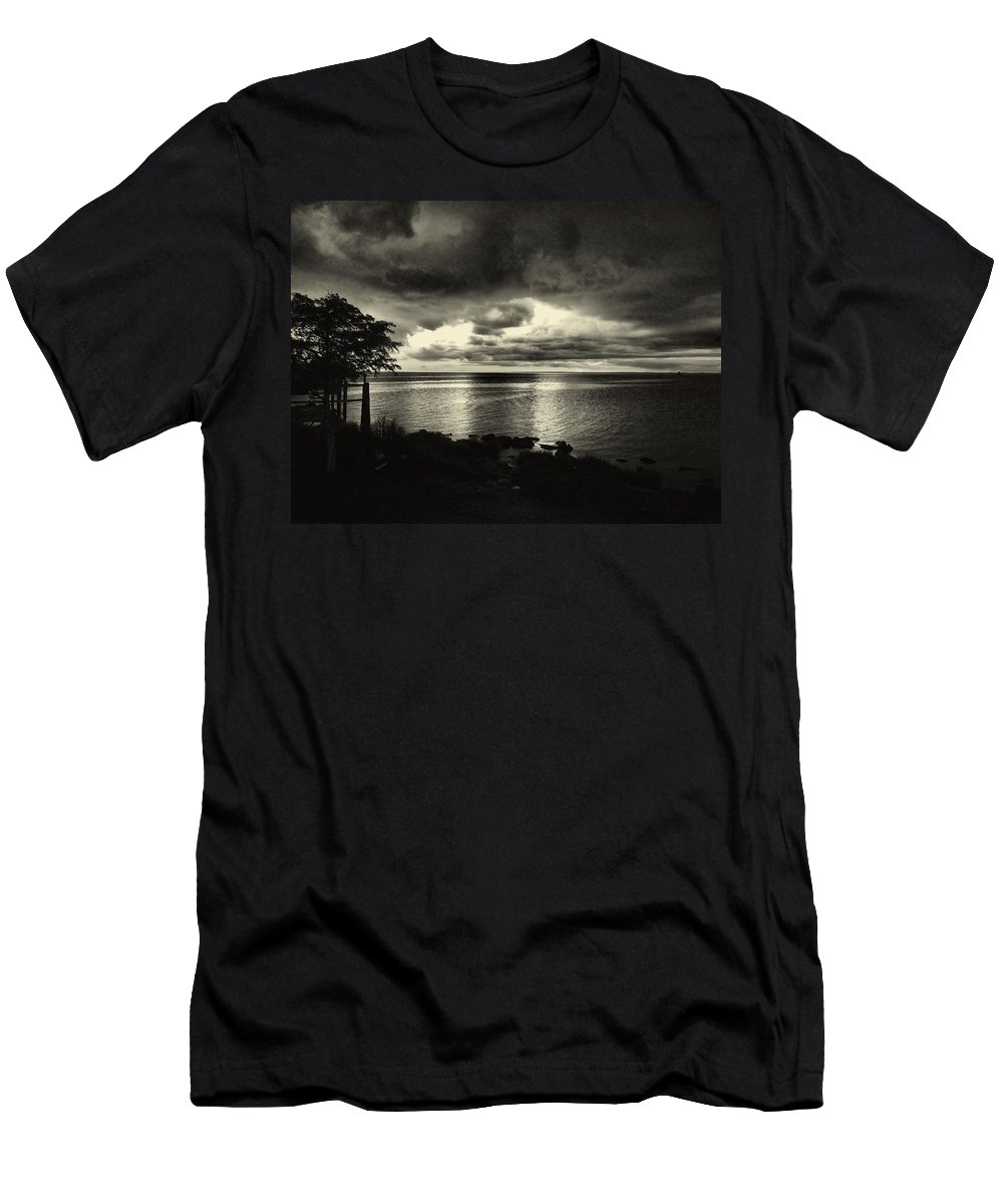 Black And White Men's T-Shirt (Athletic Fit) featuring the photograph Calm Before The Storm by Anthony Walker Sr