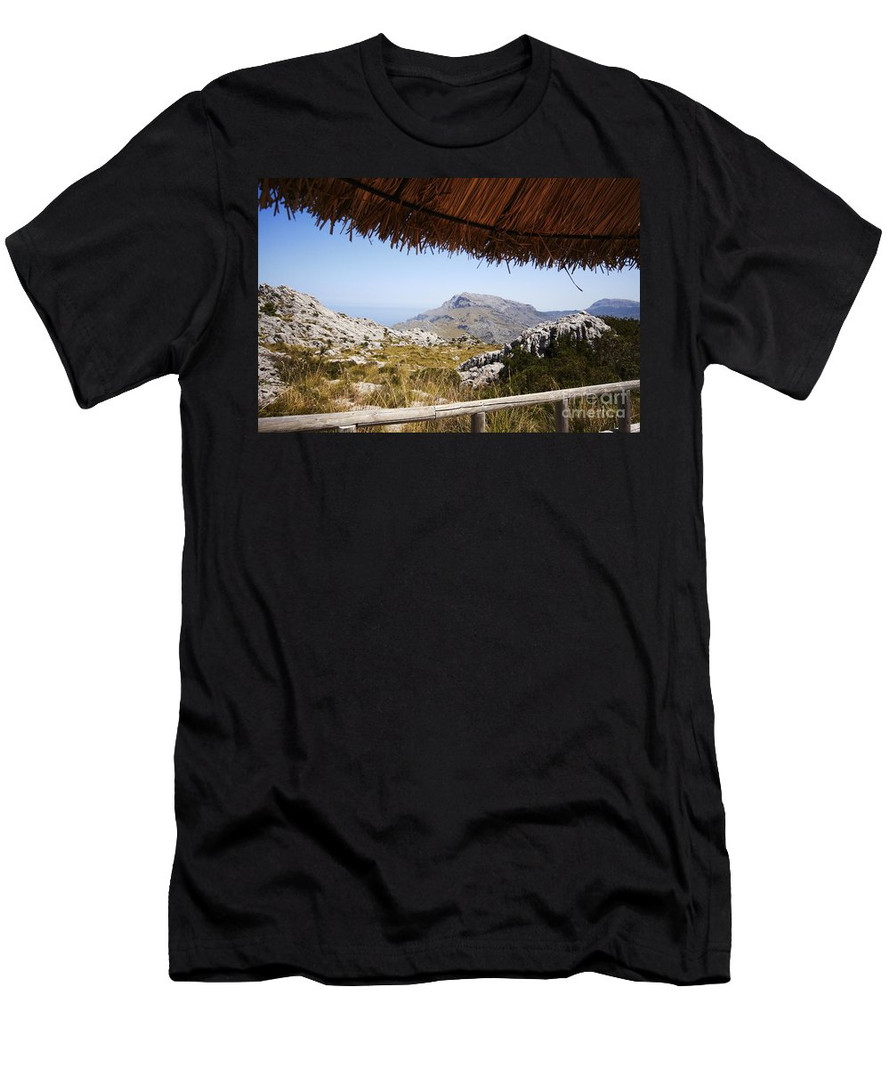 Calobra Men's T-Shirt (Athletic Fit) featuring the photograph Calobras Road by Agusti Pardo Rossello
