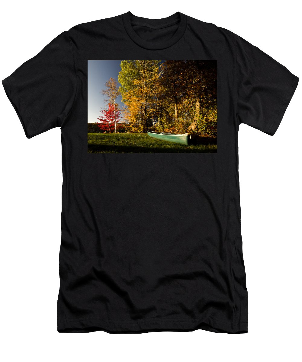 Fall Men's T-Shirt (Athletic Fit) featuring the photograph Canoe by Cale Best