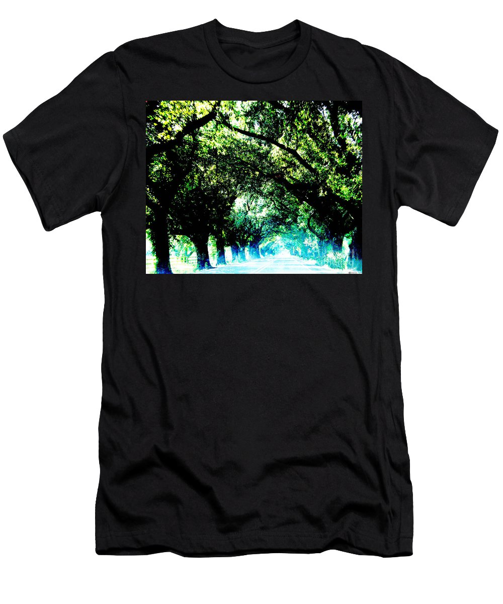 Live Oak Men's T-Shirt (Athletic Fit) featuring the photograph Canopy by Lizi Beard-Ward