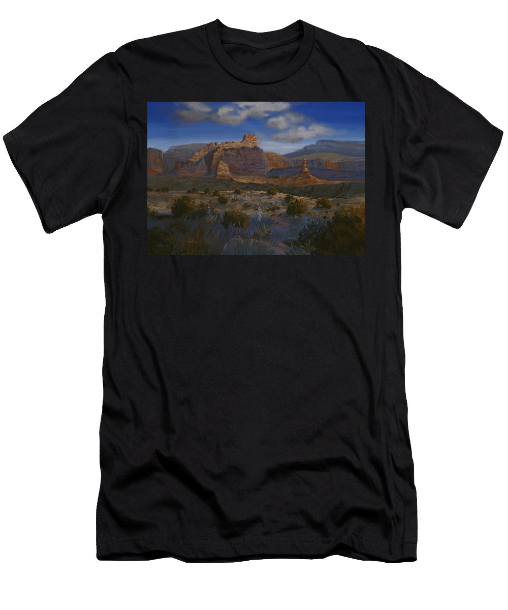 Landscape T-Shirt featuring the painting Canyon Light by Heather Coen