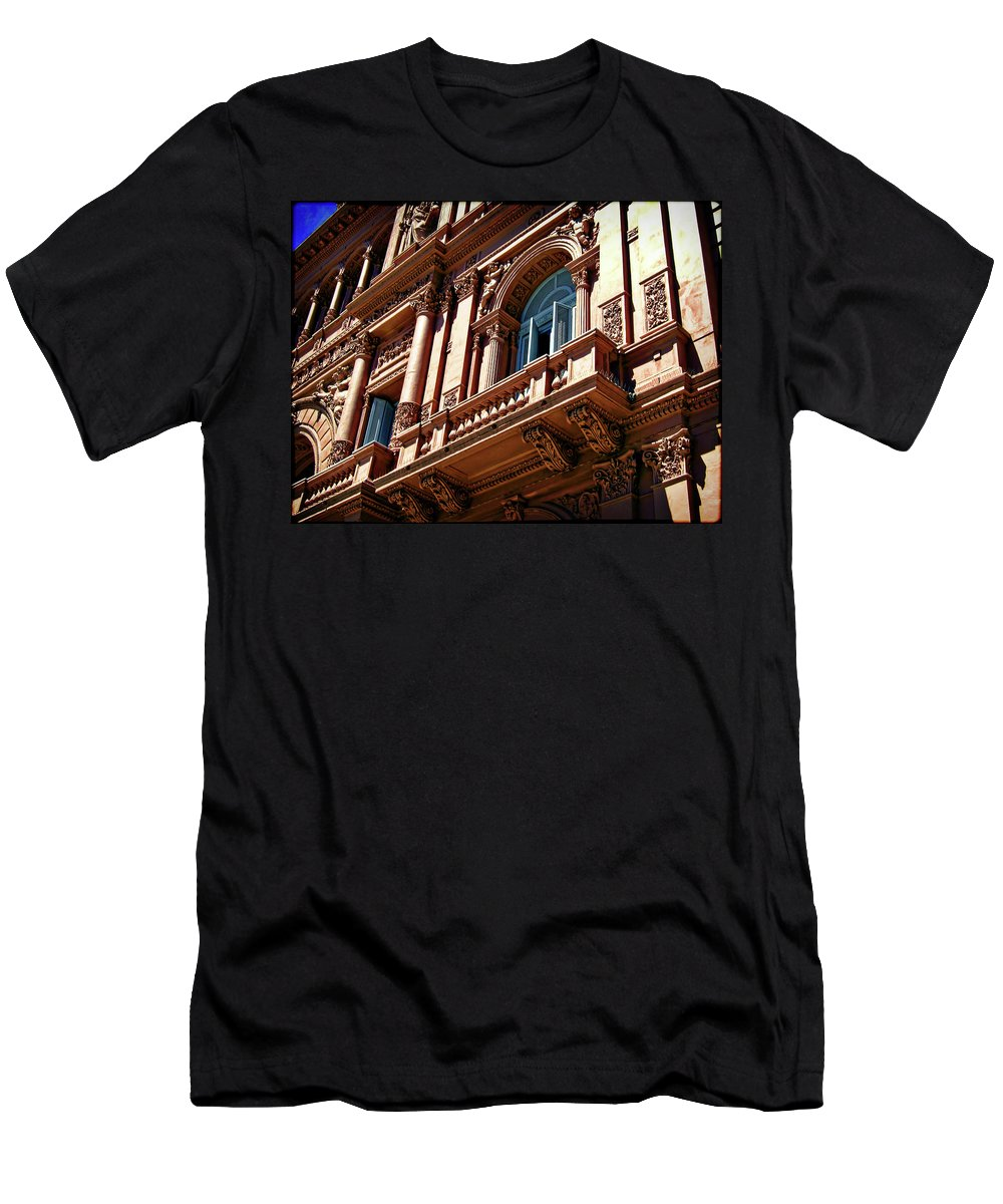 Architecture Men's T-Shirt (Athletic Fit) featuring the photograph Casa Rosada by Joan Minchak