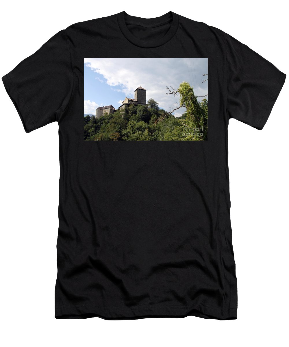 Castle Men's T-Shirt (Athletic Fit) featuring the photograph Castle Tirol by Christiane Schulze Art And Photography