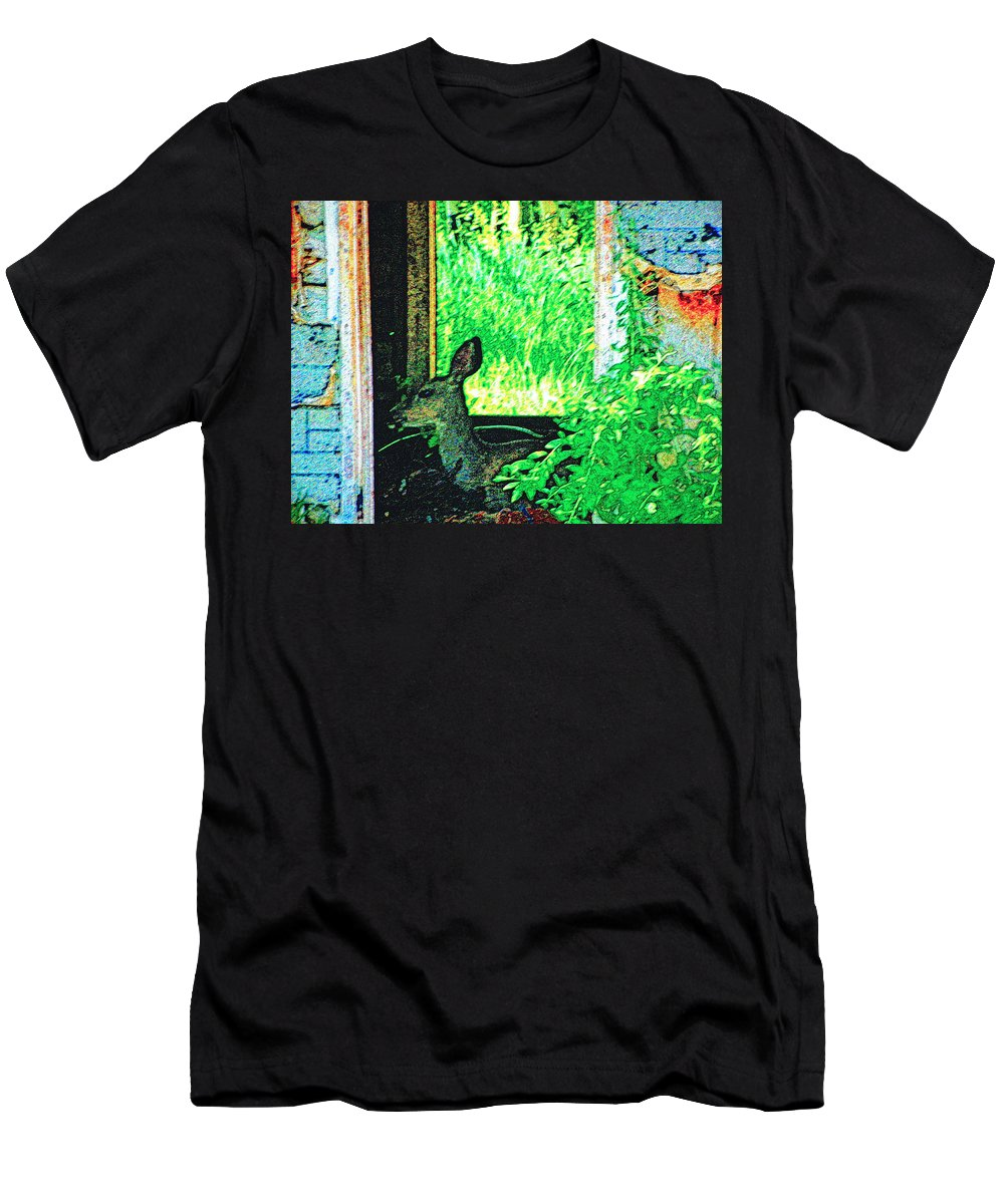 Expressive Men's T-Shirt (Athletic Fit) featuring the photograph Catching Some Shade by Lenore Senior