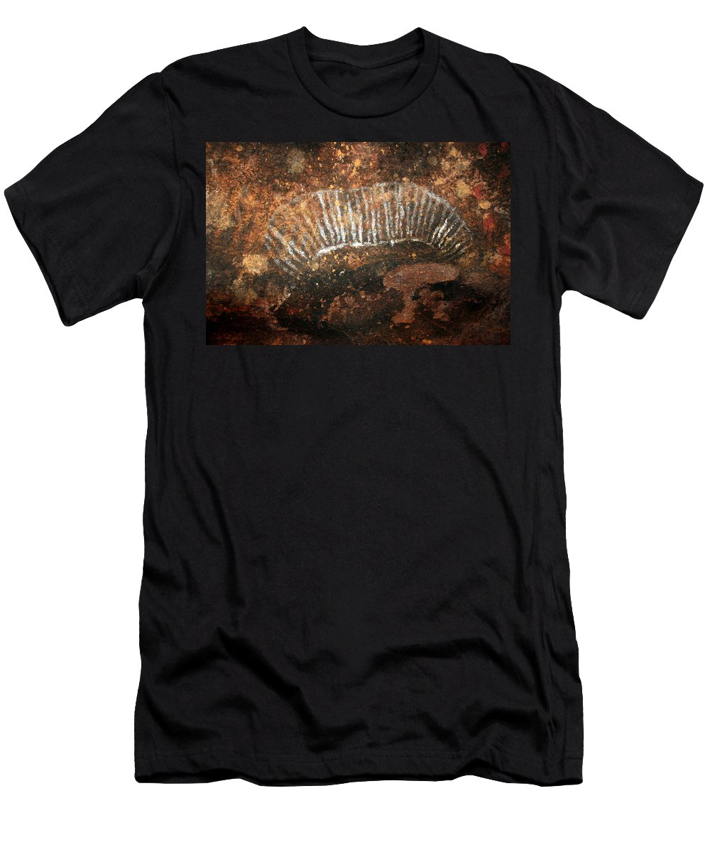 Witchittey Grub Men's T-Shirt (Athletic Fit) featuring the photograph Cave Painting Of A Witchittey Grub by Laurel Talabere