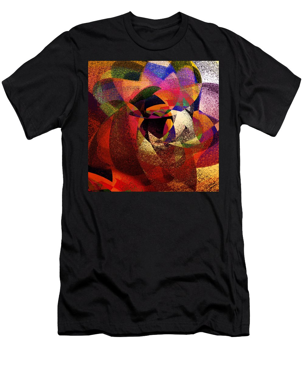 Abstract Men's T-Shirt (Athletic Fit) featuring the digital art Chalk Face by Grant Wilson