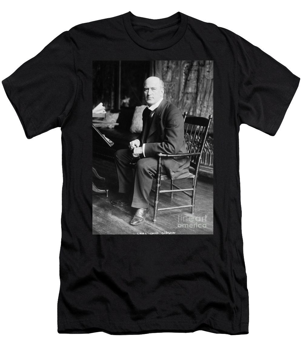 19th Century Men's T-Shirt (Athletic Fit) featuring the photograph Charles Gibson (1867-1944) by Granger