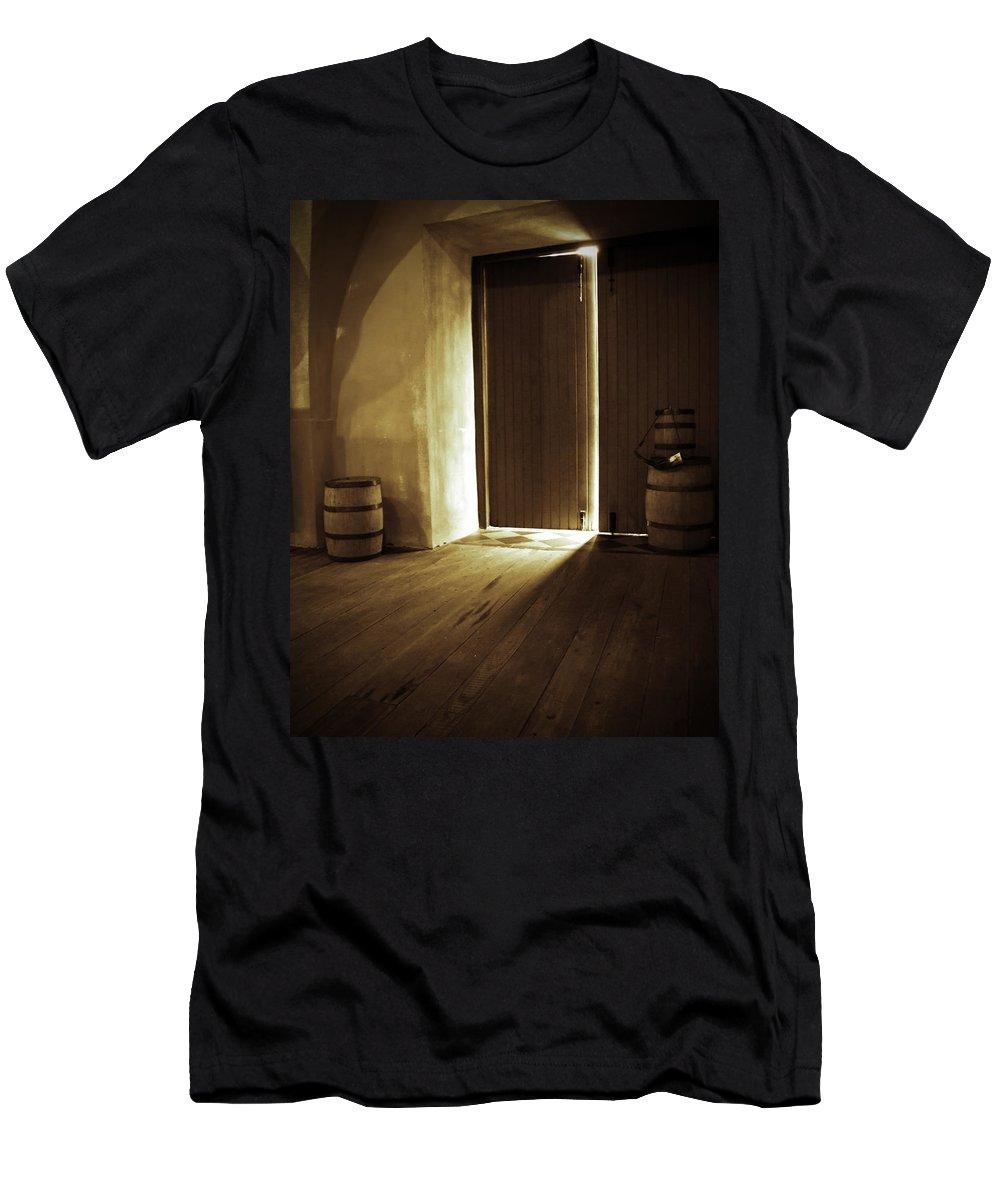 Powder Men's T-Shirt (Athletic Fit) featuring the photograph Charleston Powder Magazine by Susan Cliett
