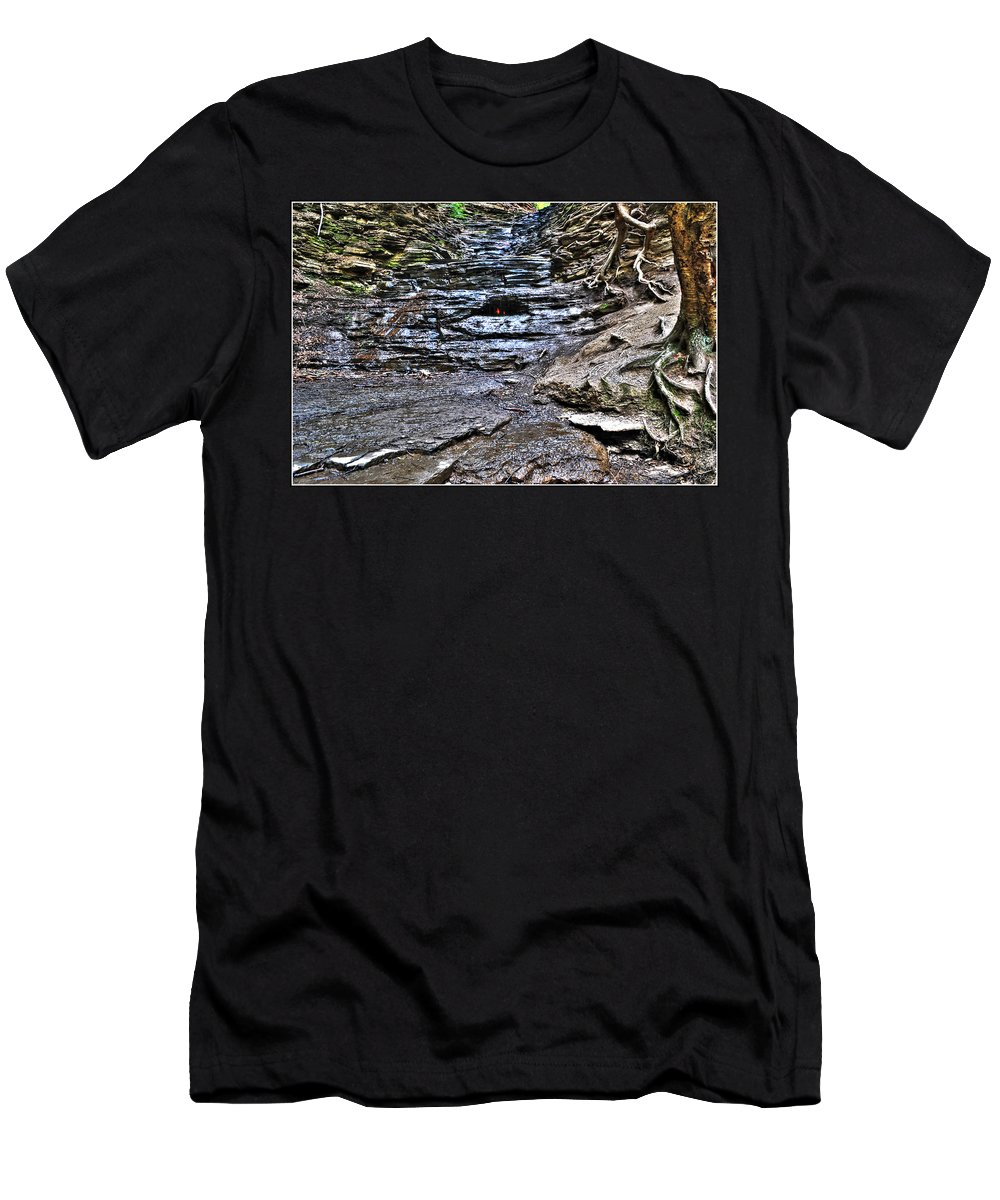 Men's T-Shirt (Athletic Fit) featuring the photograph Chasing The Eternal Flame At Chestnut Ridge Park by Michael Frank Jr