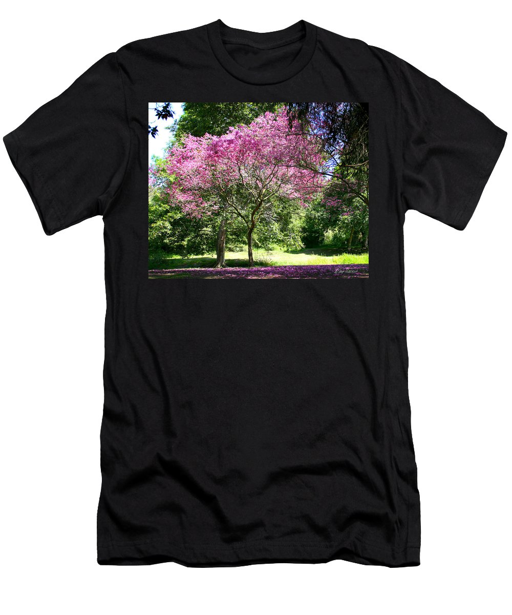 Cherry Men's T-Shirt (Athletic Fit) featuring the photograph Cherry Tree by Diana Haronis