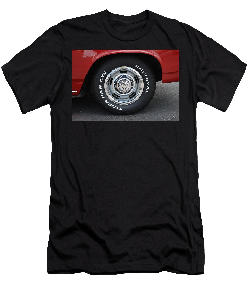 Chevy Men's T-Shirt (Athletic Fit) featuring the photograph Chevy Rims by Rob Hans