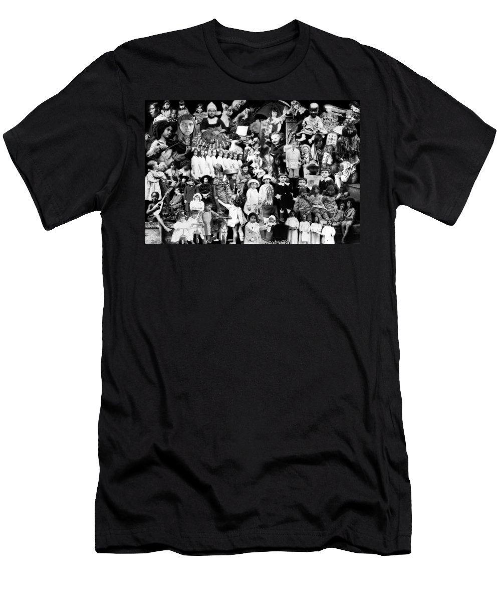 Children Men's T-Shirt (Athletic Fit) featuring the photograph Children Of The World by Andrew Fare