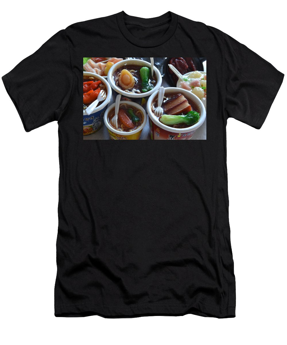 Chinese Food Miniatures Men's T-Shirt (Athletic Fit) featuring the photograph Chinese Food Miniatures 1 by Bill Owen