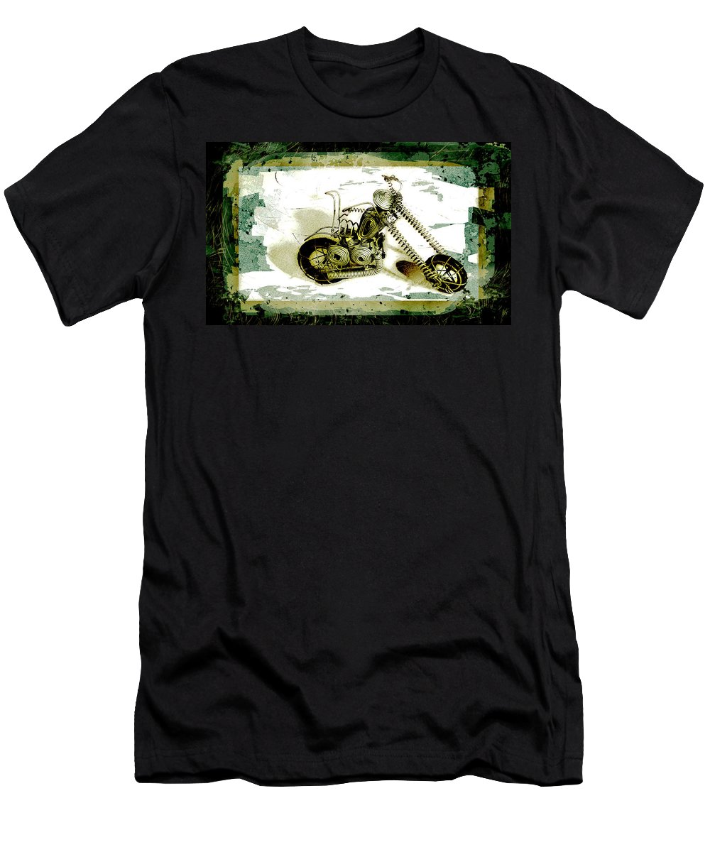 Art Men's T-Shirt (Athletic Fit) featuring the pyrography Chopper 1 by Mauro Celotti