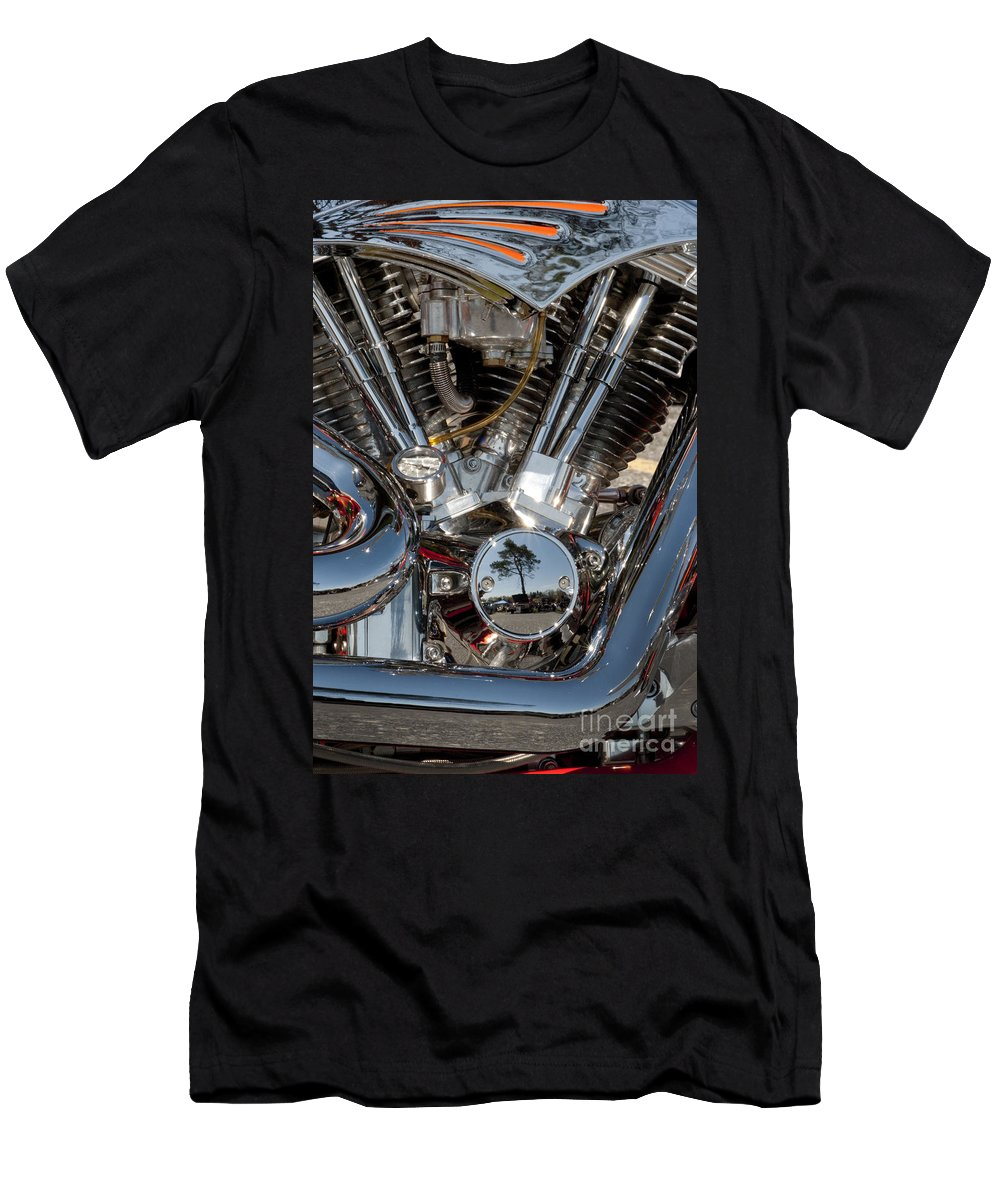 Motorcycle Men's T-Shirt (Athletic Fit) featuring the photograph Chopper Detail - 108 by Paul W Faust - Impressions of Light