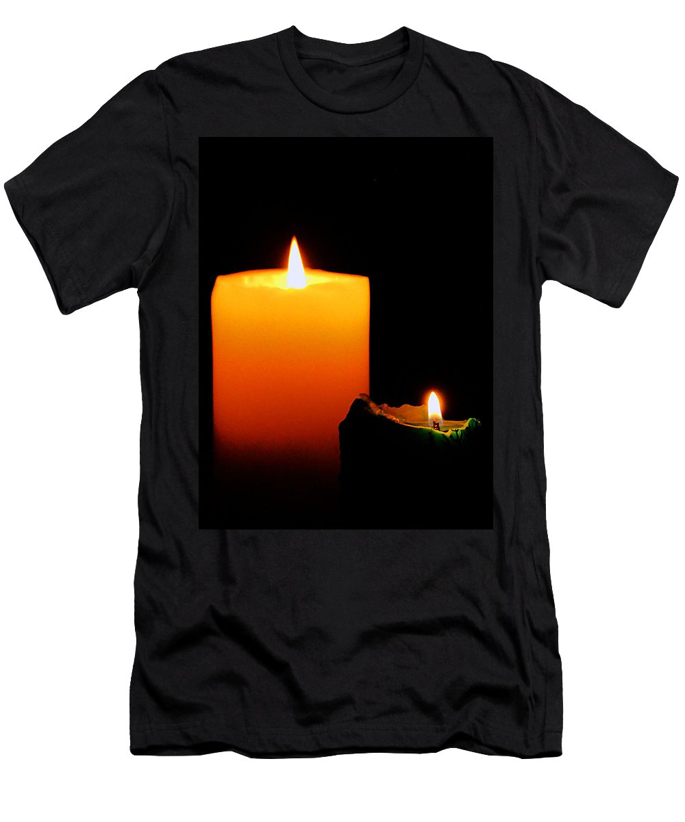 Candle Men's T-Shirt (Athletic Fit) featuring the photograph Christmas Wishes by Blair Wainman