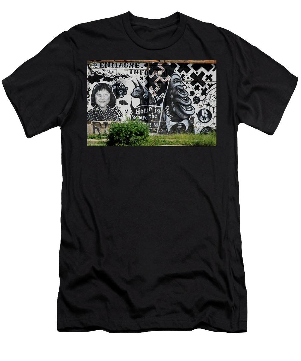 Landscape Men's T-Shirt (Athletic Fit) featuring the photograph City Of Art by Dennis Pintoski