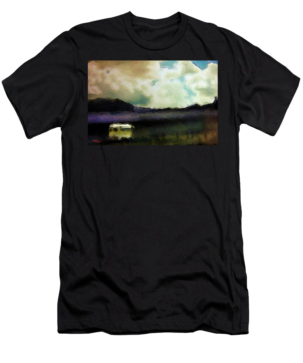 Outdoors Men's T-Shirt (Athletic Fit) featuring the painting Classic Road Trip by Adam Vance