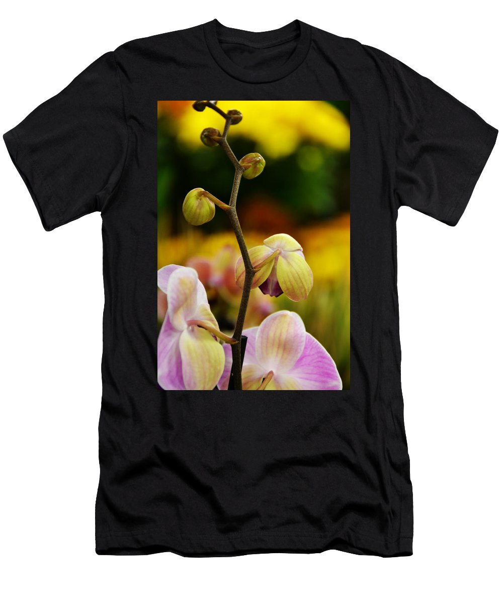 Flowers Men's T-Shirt (Athletic Fit) featuring the photograph Climbing Slowly by Angelina Vick