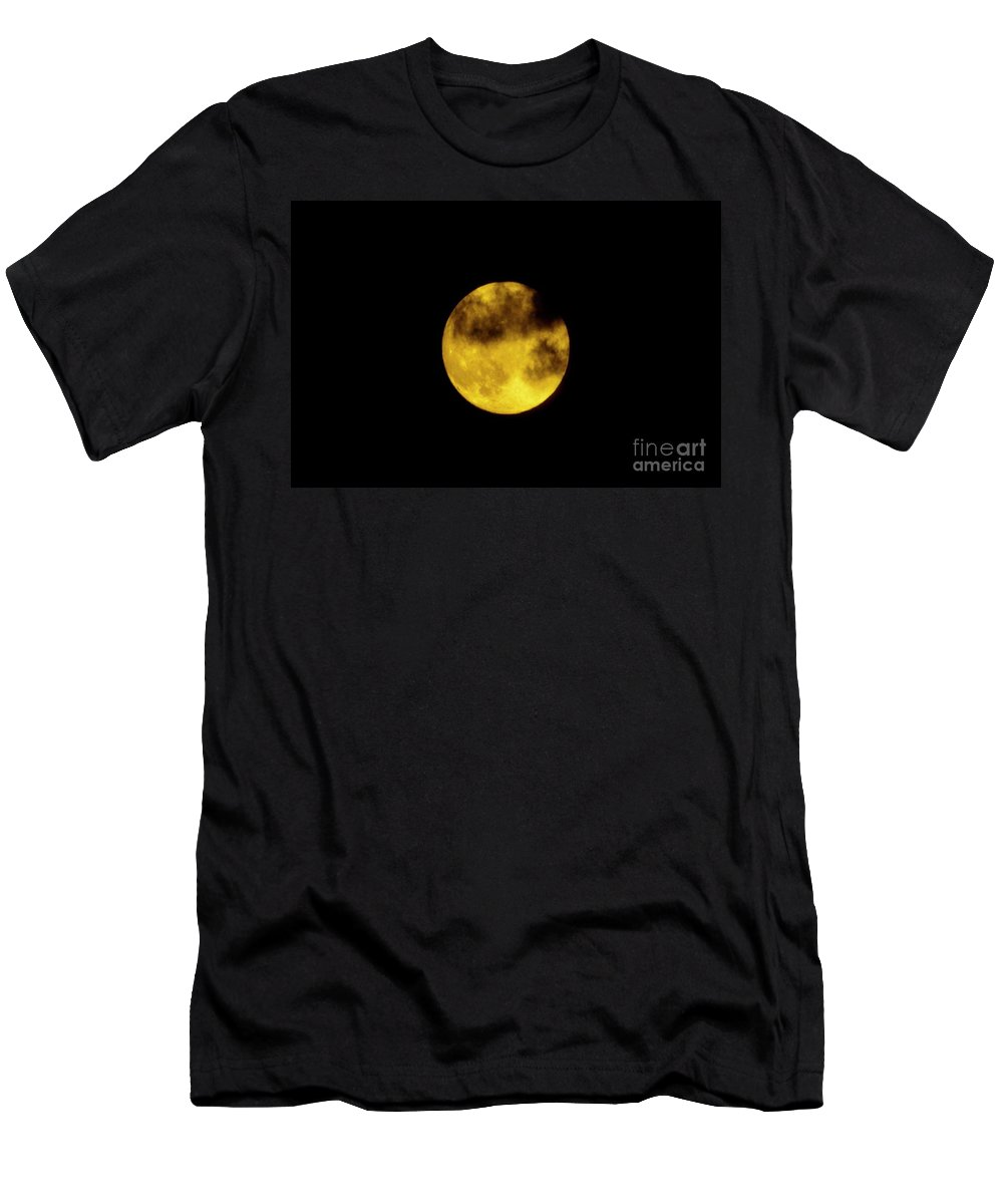 Moon Men's T-Shirt (Athletic Fit) featuring the photograph Cloudy Moon by Tommy Anderson